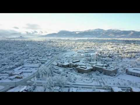 Drone footage captures most Medford snow since 1919