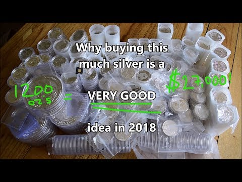 Why buying 1200 oz of silver in 2018 was a VERY GOOD idea!