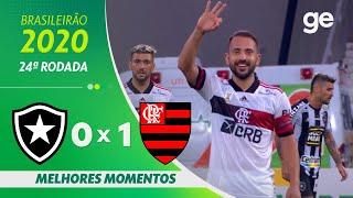 BOTAFOGO 0 X 1 FLAMENGO | MELHORES MOMENTOS | 24ª RODADA BRASILEIRÃO 2020 | ge.globo
