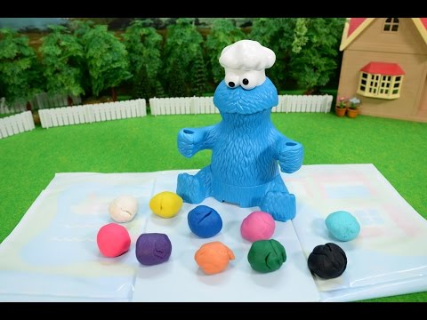 Thumbnail: プレイドー クッキーモンスター レターランチ / Gobble Gobble!! Clay Lunch for Cookie Monster!