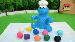 プレイドー クッキーモンスター レターランチ / Gobble Gobble!! Clay Lunch for Cookie Monster! thumbnail
