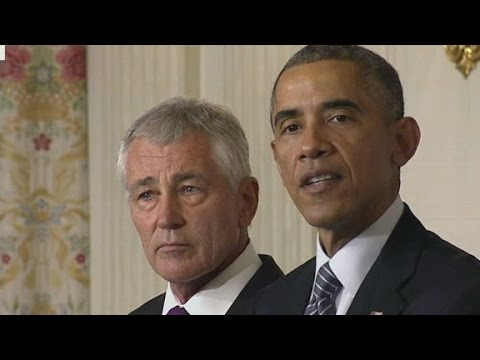 Obama announces Hagel