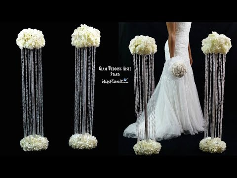 diy-glam-aisle-wedding-ceremony-decorations-|-glam-aisle-pillars-|-diy-tutorial