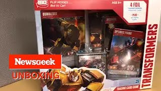 Newsgeek Unboxes Transformers Trading Card Game Starter Pack