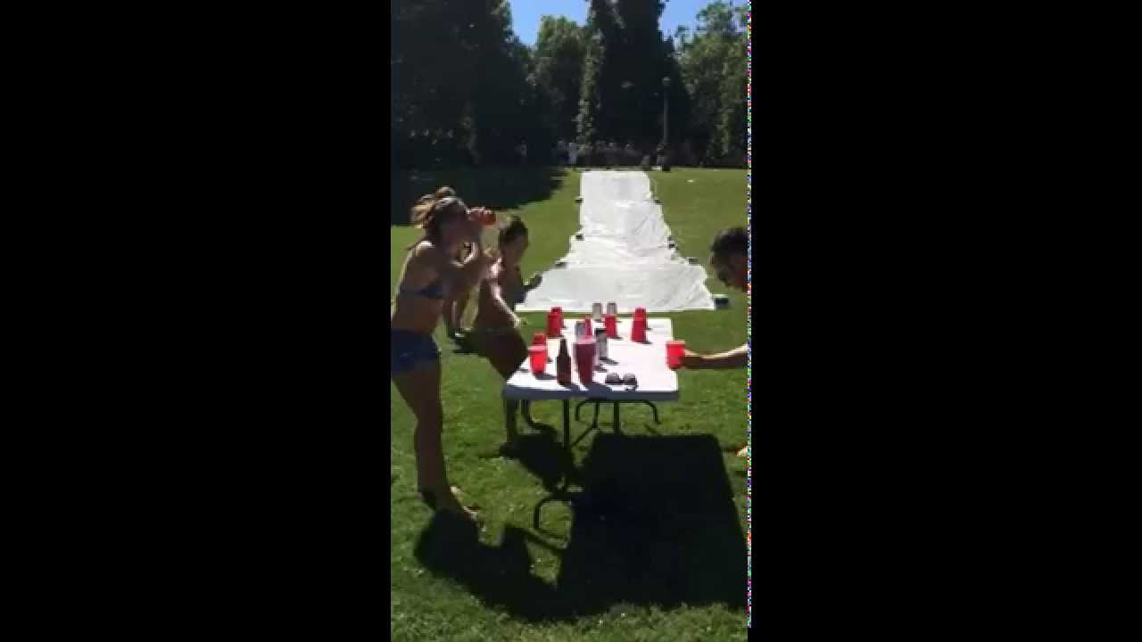 how to make a slip and slide without a tarp