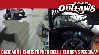 World of Outlaws Craftsman Sprint Cars Christopher Bell Eldora Speedway In-Car Camera