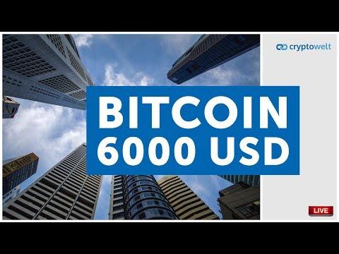 Bitcoin hat die 6000 USD Dollar geknackt - wie geht es weiter?