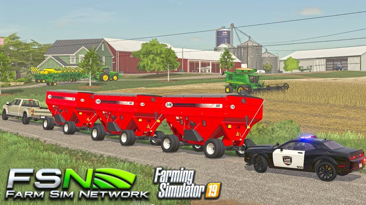 COPS TICKET US FOR ILLEGAL TOWING | START HARVEST | NEW EQUIPMENT (FSN PLAY) FS19