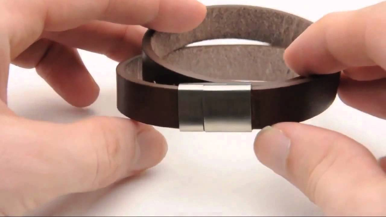 Rebel 316 Jewelry Men's Leather And Stainless Steel Bracelet With Magnetic  Clasp  Rbbr4002  Youtube