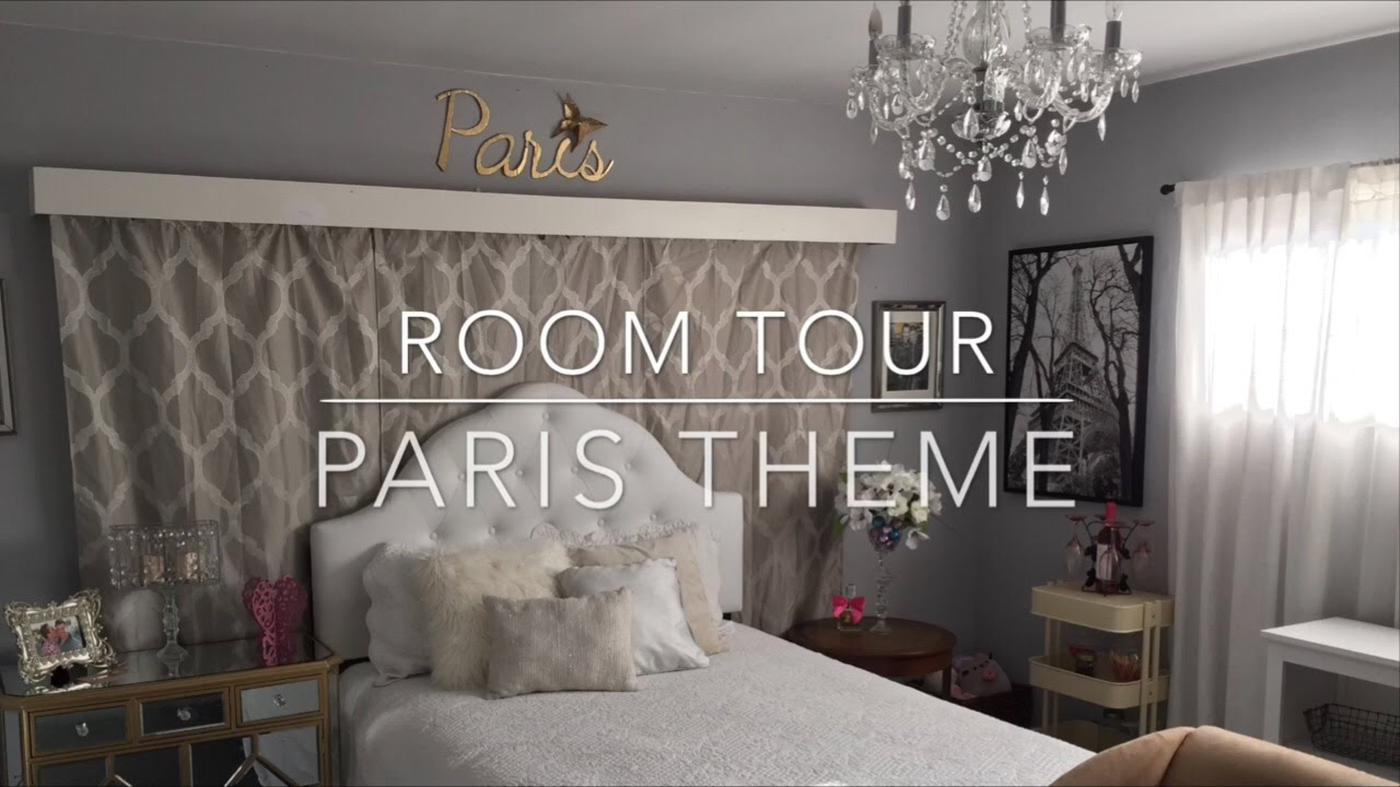 Paris Inspired Bedroom Room Tour Paris Theme Youtube