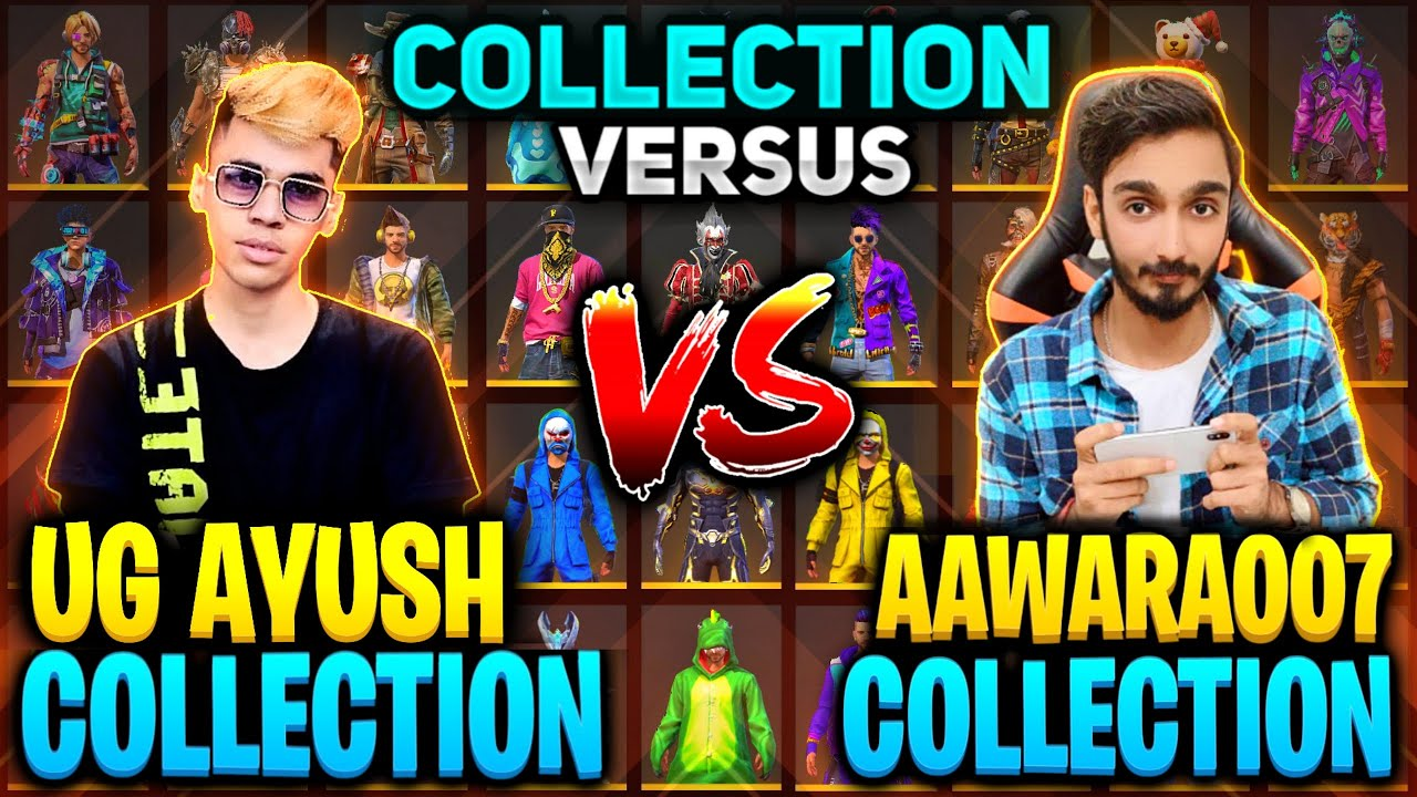 UnGraduate Gamer Vs AAWARA Funniest 🤣 Collection Versus Richest Freefire Player    Free fire