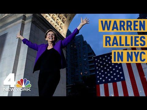 Elizabeth Warren Talks Corruption in NYC, Citing Deadly 1911 Factory Fire