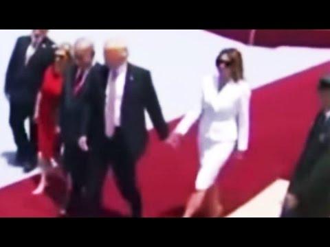 Melania Trump Swats Away Donald's Hand (VIDEO)