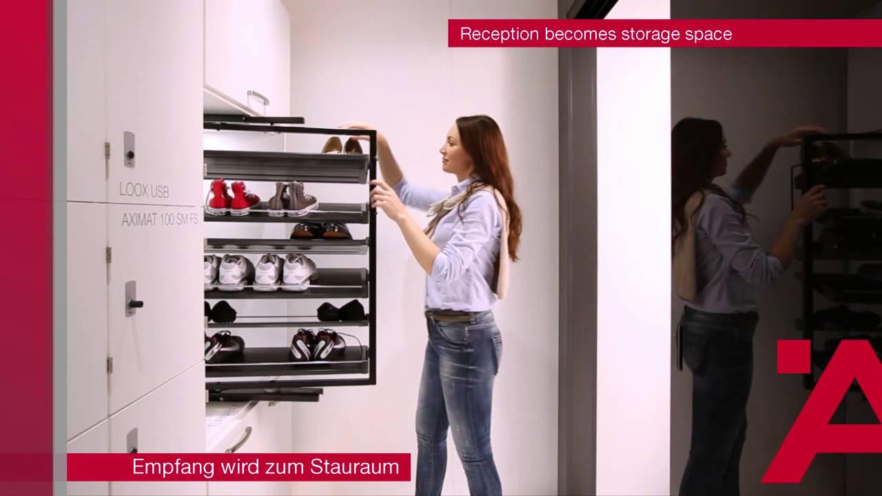 Delicieux Häfele   Interzum 2015   Reception Becomes Storage Space