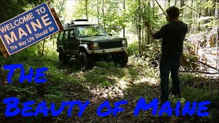 Jeeps Camping and Offroading in Maine