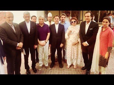 Mr. Abbas Ahmad Akhoundi (Minister for Roads & Urban Development, Iran) at Dabistan-e-Iqbal
