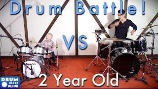 Me vs. 2 Year Old Drummer - Drum Battle!   Drum Beats Online
