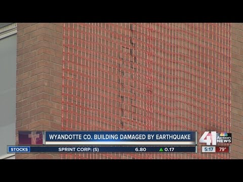 Earthquake damage to Kansas City metro area causes damage to Wyandotte County building