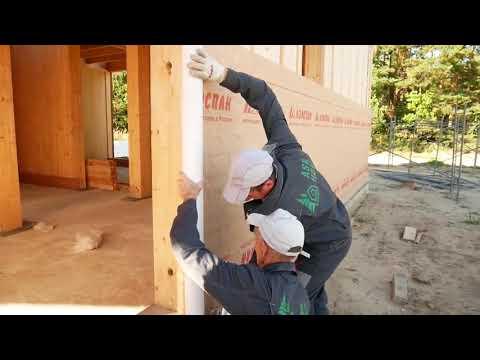 Дом из вертикального бруса своими руками