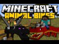 Minecraft: ANIMAL BIKES MOD (Ride Ender Dragons, Cows, Rabbits & More) Mod Showcase
