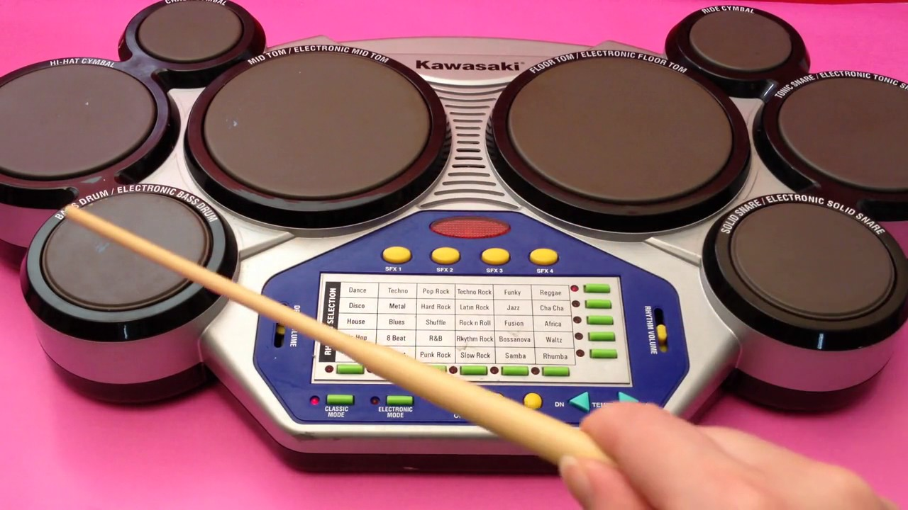 Kawasaki Kids Drum Toy with Classic & Electronic Drum Plus Sound ...