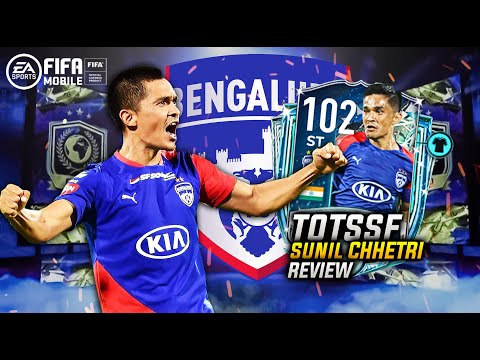 F2P!! TOTSSF SUNIL CHHETRI REVIEW | FIFA MOBILE ISL | 102 RATED CHHETRI | 2X STAR PASS GIVEAWAY |