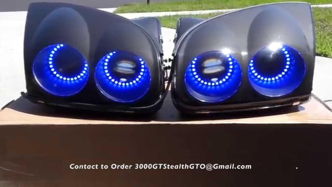 Mitsubishi 3000gt 1999 Headlight Rgb Halo Youtube