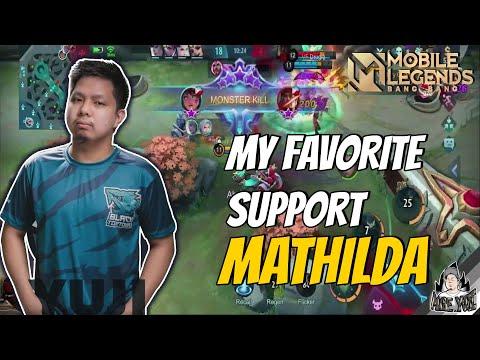 MATHILDA IS MY FAVORITE SUPPORT HERO   GAMEPLAY MLBB
