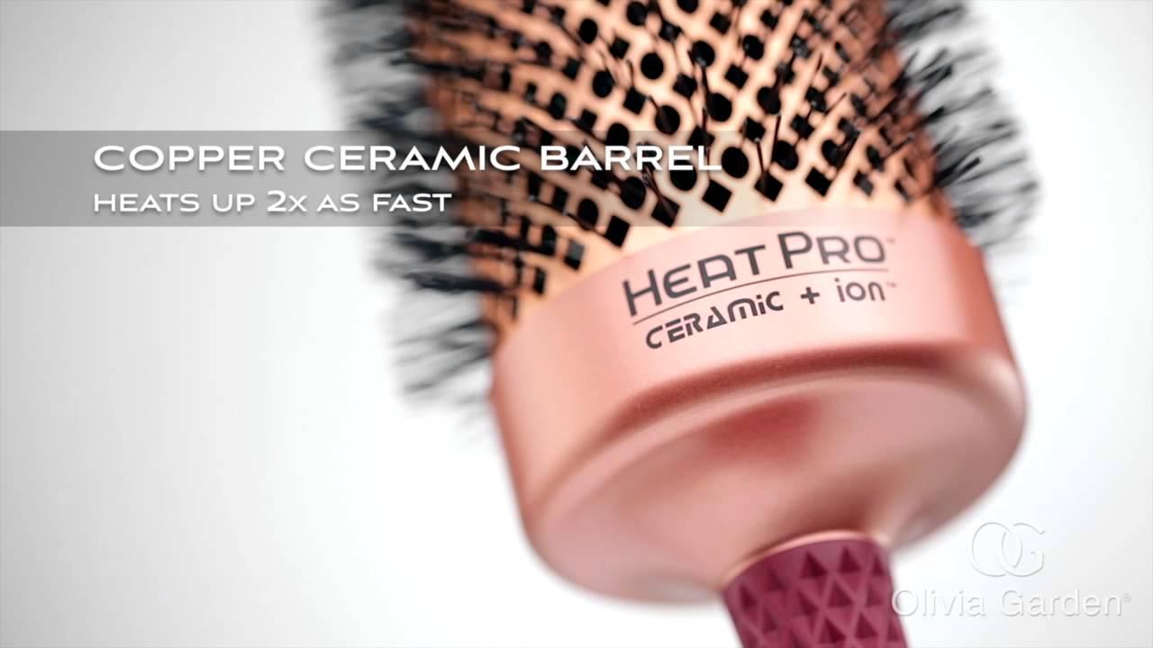 Brosse ronde ceramic+ion Heat pro 52mm | Olivia Garden