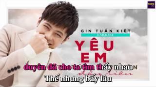 [Karaoke] Yêu Em Từ Cái Nhìn Đầu Tiên | Gin Tuấn Kiệt | Tone Nữ | Beat Chuẩn
