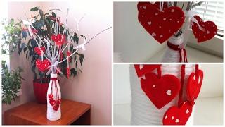 Дерево из сердечек. Декор на 14 февраля. DIY