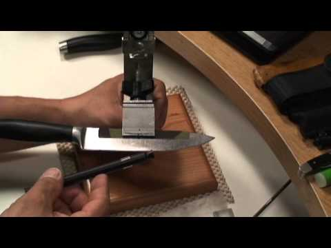 Sharpening A Kitchen Knife With The KME Precision Sharpener - Part 1