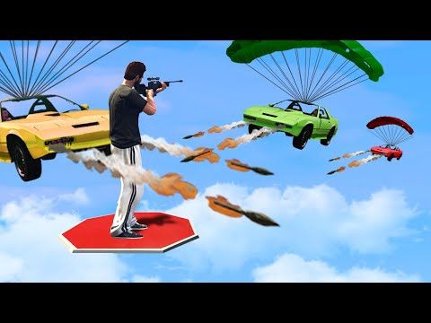 Can You HIT The SNIPER Off The Platform?! (GTA 5 Funny Moments) thumbnail