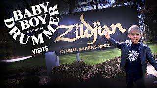Baby Boy Drummer LJ Visits Zildjian