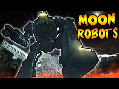 ORIGINS ROBOTS ON MOON! What Are In The CAGES in THE GIANT! Black Ops 3 Zombies Easter Eggs