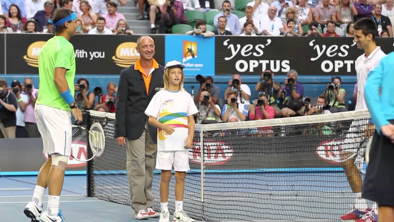 Australian open coin toss boy