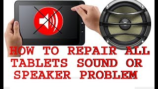 how to fix android tablet sound problem
