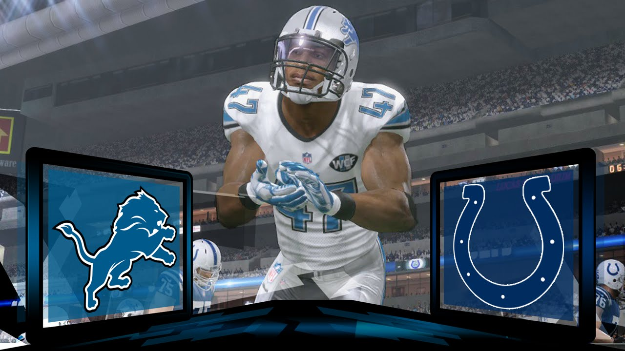 fb6a32321 Madden NFL 17 Detroit Lions Franchise- Year 1 Game 1 at Indianapolis Colts  - YouTube