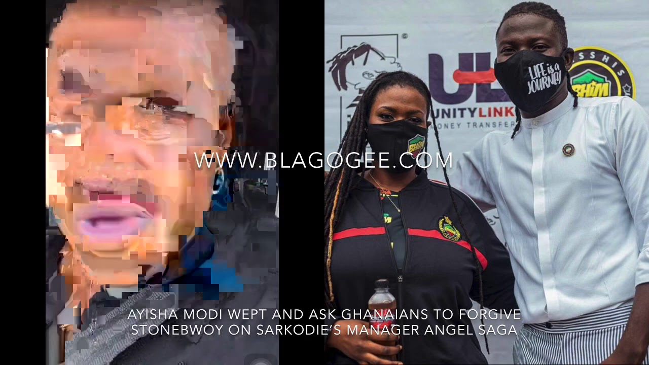 Stonebwoy's Ayisha Modi Cry And Asked Ghanaians To Forgive After Sarkodie's Manager Angel Saga
