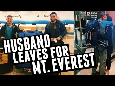 Husband Leaves for Everest & Qatar Airport