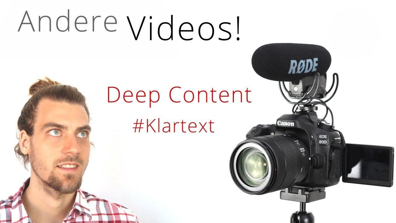 Eine andere Art von Videos... #klartext | Deep Content auf Patreon!
