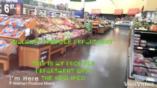 Walmart produce department