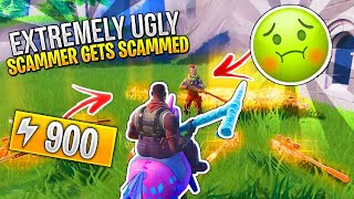 Extremely Ugly Scammer Scams Himself For Inventory! (Scammer Gets Scammed) Fortnite Save The World