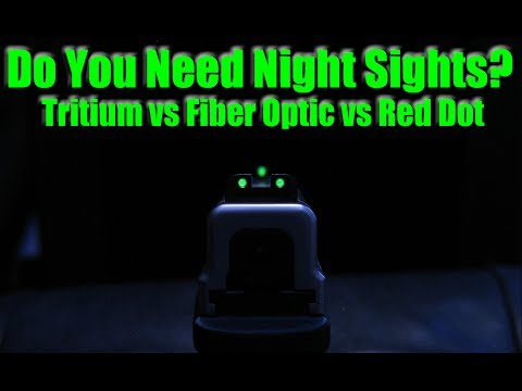 Best Sights For Night Shooting? Tritium vs Fiber Optic & Red Dot For Self Defense