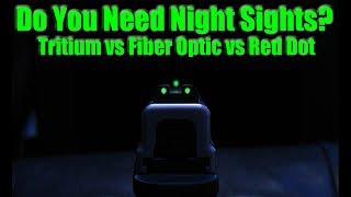 Best Sights For Night Shooting? Tritium vs Fiber Optic & Red Dot For Self Defense