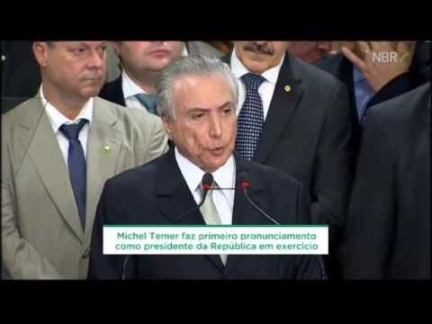 Pronunciamento do presidente interino Michel Temer