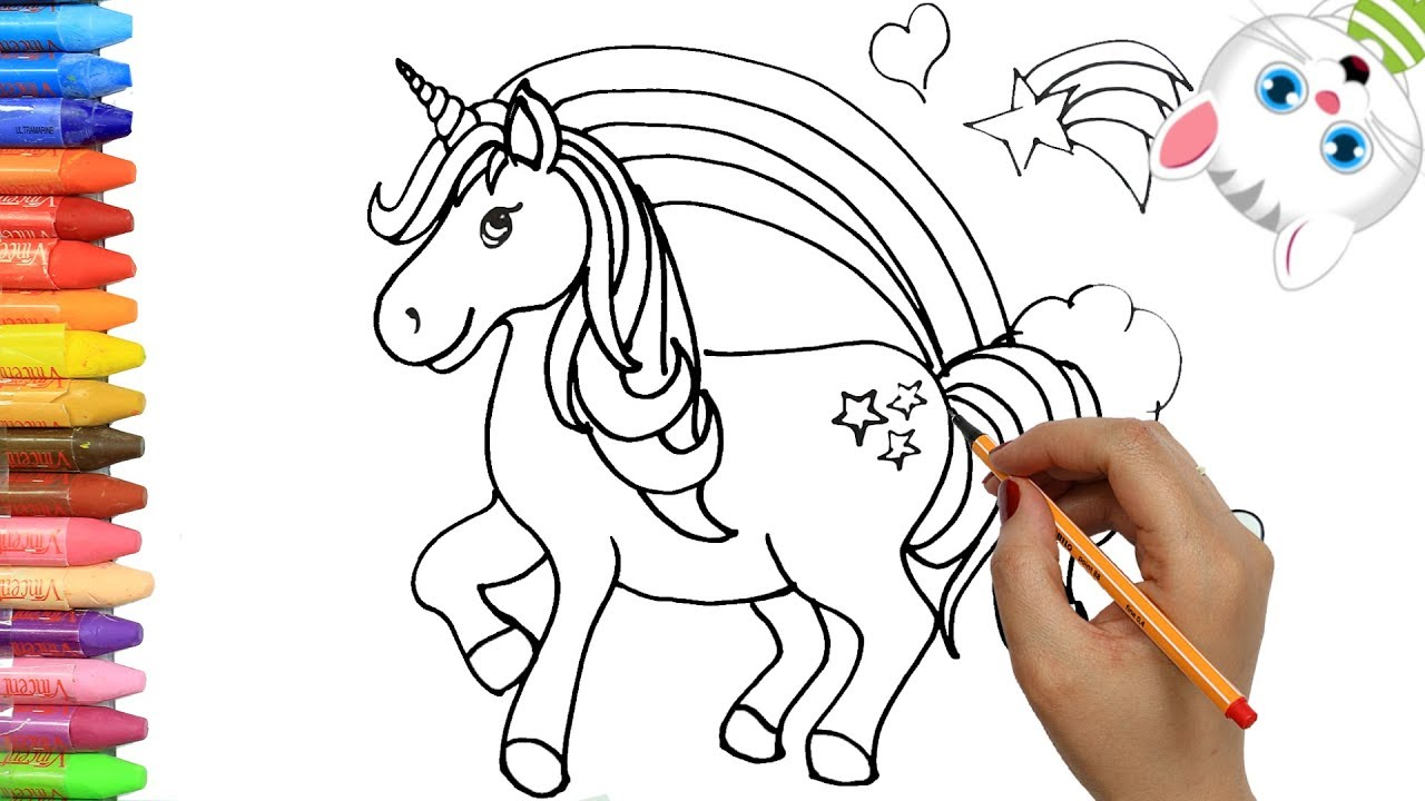 Cara Menggambar Unicorn Dengan Mimi Cara Menggambar Dan Mewarnai Tv Anak Youtube
