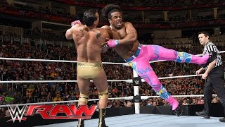 The New Day Vs The League Of Nations Wwe Tag Team Championship Match Raw March 14 2016 Youtube