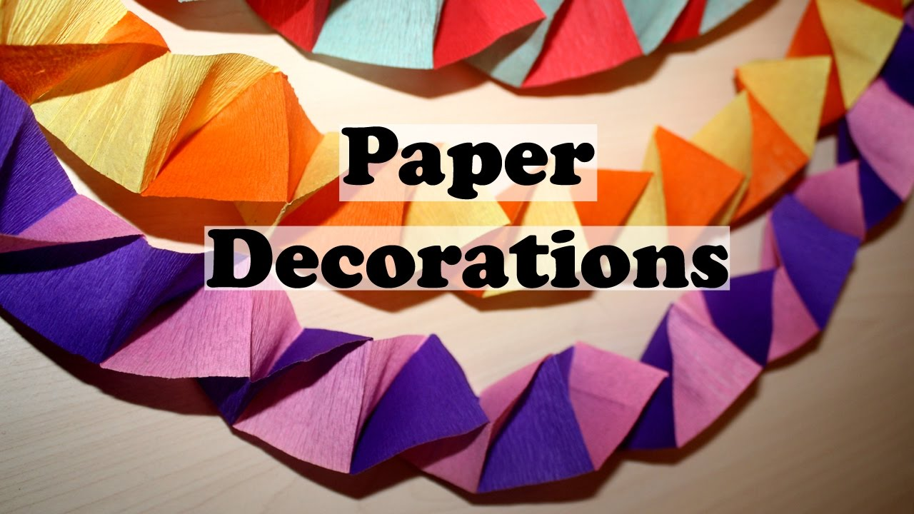 Diy Paper Decorations Homemade Christmas Party