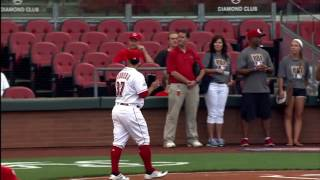 J.R. Todd Cincinnati Reds First Pitch